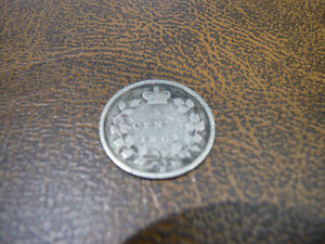 Vintage Canadian 1882-H, 5 Cent Coin Good Condition!