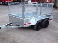 new 8x4 twin wheel builders trailer with mesh sides