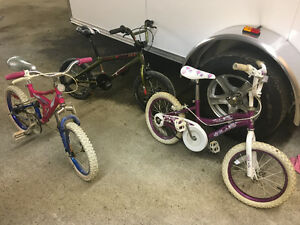 4 kids bikes bmx and mountain
