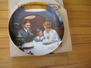 "Norman Rockwell Collector Plate ""The Tycoon"" Cambridge Kitchener Area image 6"