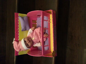 Baby with Crib