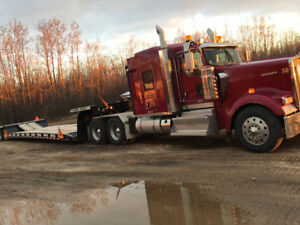 2013 Kenworth W900L and 2012 Landoll 835C ag trailer