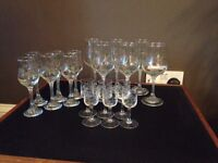 Vintage wine & sherry glasses