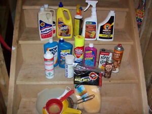 CLEANING SUPPLIES  --  MOST NEW
