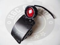Harley Davidson sportster curved side mount plate w/ LED brake light
