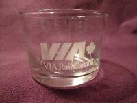 Via rail glassware