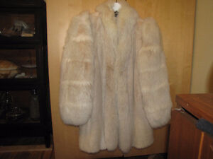 Mink and fox white Fur coat