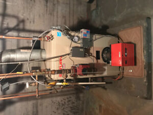 Oil furnace for sale and 1/2 tank of oil!!