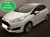 £175.31 PER MONTH Ford Fiesta 1.0 Eco Boost 2014.5 Zetec S 3 Door White