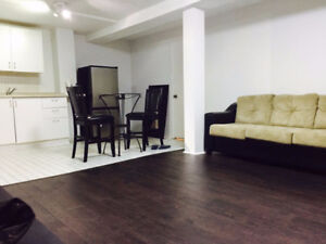 One bedroom basement apartment for immediate occupancy in Ajax
