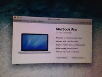 MacBook Pro 17 inch 500gb Hard-drive 8gb memeory