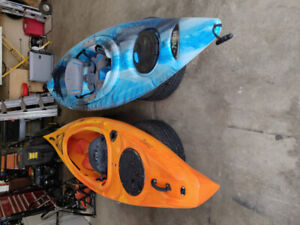 10' Kayaks - Riot & Pelican w/paddles