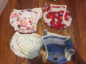 Bummis covers and bamboo prefolds
