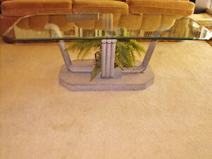 Glass Topped Coffee Table, with options - Excellent Condition!