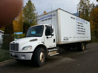 2004, freightlighner, M2, with a24 ft. van, & power tail gate.