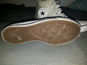 Converse silver glitter shoes Hectorville Campbelltown Area Preview