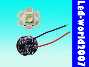 Cree XR-E Q5 3W White High Power Led + 5-Mode Power Driver Dimmer 3.7V 700mA