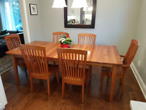Solid Cherry Dining Set - Amish Made