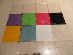 NEW CD/DVD Color Slim Jewel Cases and CD Trays