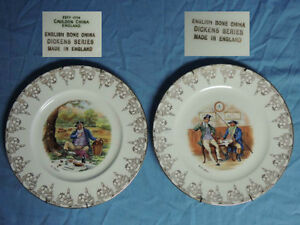 Dickens Series - English Bone China Plates