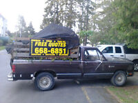 "Free same day ""quotes"" rubbish, wood, yard waste, all hauling"