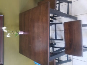 wood bar table/ high table with 4 stools