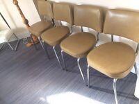 Vintage vinyl padded chairs