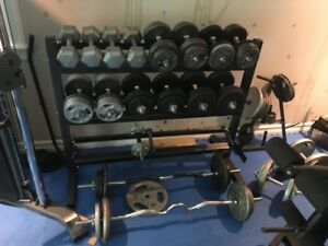 In Home Gym - Free Weights!