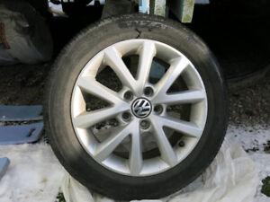 Ensemble de 4 mags VW avec pneus d'été