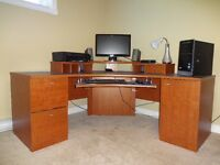 Quality Office Computer Desk, Chair & Bookcase