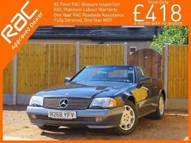 1995 Mercedes-Benz SL SL500 5.0 Auto R129 Convertible Hard Top Full Leather Heat