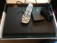 SKY HD BOX, REMOTE & wifi adaptor