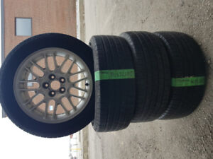 205/55/16 MICHELIN SET  used tires (all season)  with rims-$400