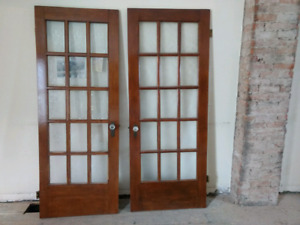 Mahogany wood doors