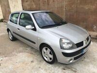 2005 Renault Clio 1.4 dynamique, Low Warranted Mileage, 12 Month Mot, 3 Month Warranty