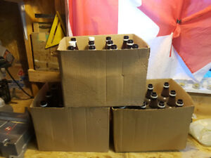 Brown Plastic Home Brew Bottles