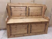 Solid pine pew storage bench 3or4ft