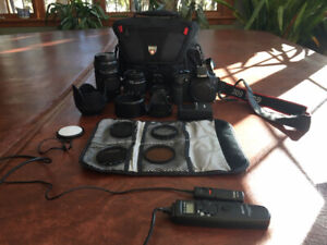 Canon 60D camera, 3 lenses and more! Like new!