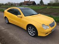 53 Mercedes-Benz C200 K COUPE SE auto Panoramic Roof, Low Miles FSH YELLOW