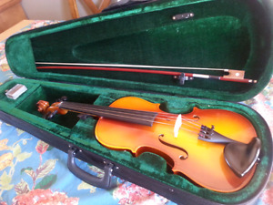 Cornell Violin, bow, case and resin