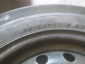 15 in all season tire with rim for sale