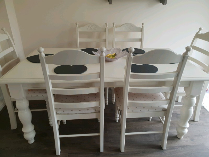 Cream Shabby Chic Dining Table Set In Portsmouth Hampshire Gumtree