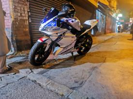 Yamaha yzf r125 with 180 malossi engine