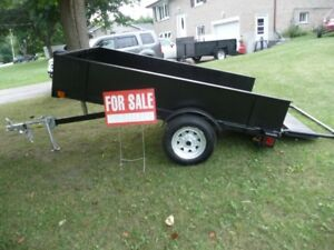 2 UTILITY TRAILERS 54 X 8 FT TILT AND LOAD 6X 8 WITH RAMP