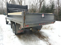 12' Dump box / fold down sides / LED lights / auto tarp
