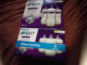Phillips Avent Glass bottles