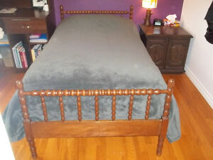 Antique wooden twin bed frame