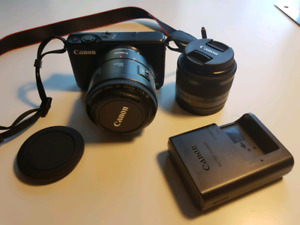 Canon m10 mirrorless, lenses, and adaptor