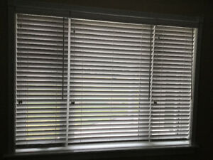 "BRAND NEW- 3 White 2"" Faux Wood Blinds"