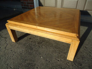 """SQUARE WOODEN COFFEE TABLE - 36"""" by 36"""""""